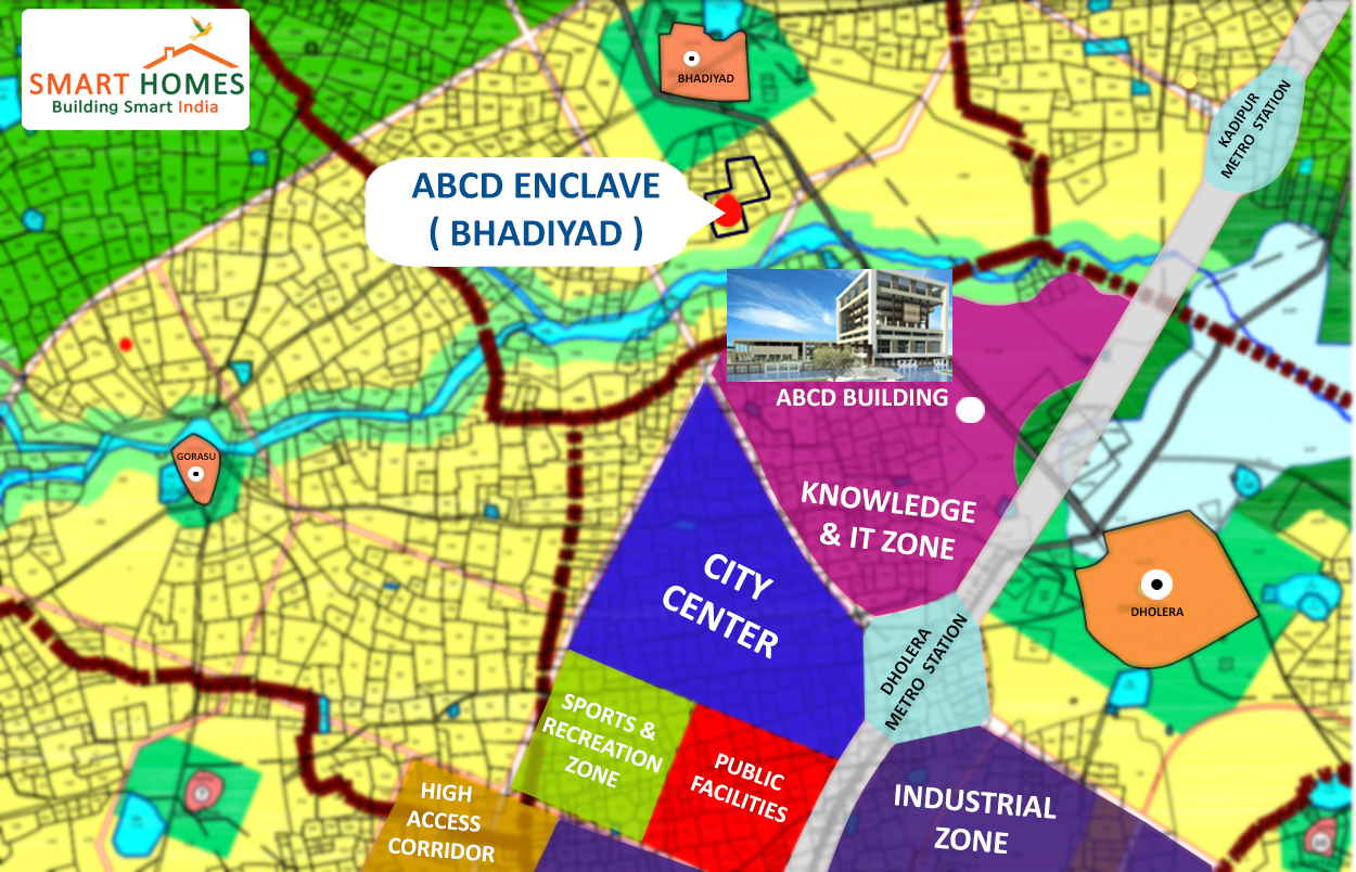Dholera Project Location Map