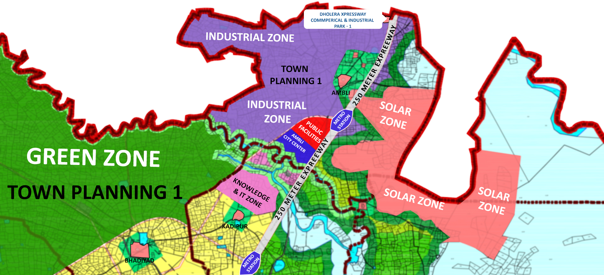 Dholera Village Map