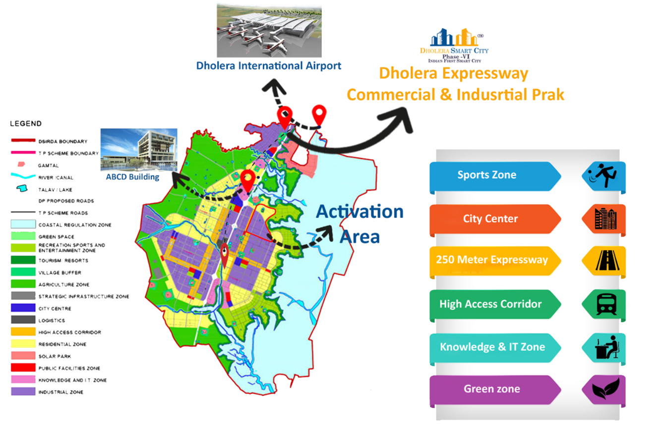 Dholera Industrial Project Location Map